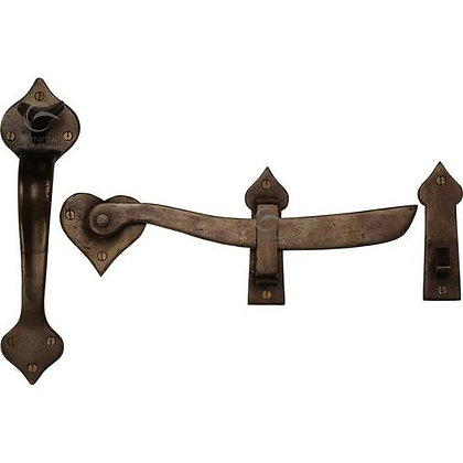 Heritage Brass Gate Handle & Latch RBL568 Solid Bronze Rustic