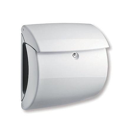 BURG WACHTER Piano Plastic Post Box - White