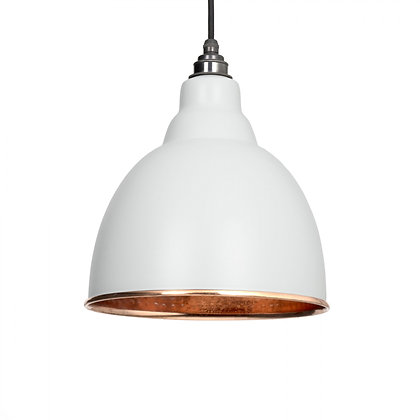 From The Anvil Brindley Pendant Light Grey & Hammered Copper 49500lg