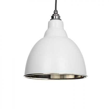 From The Anvil Brindley Pendant Light Grey & Smooth Nickel 49504lg