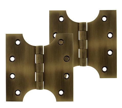 4 x 2 x 4 Inch Matt Antique Brass Atlantic UK Parliament Hinges - APH424