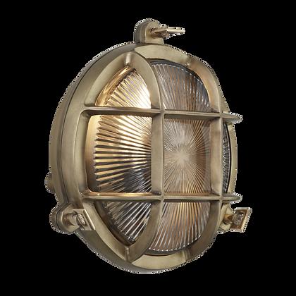 Industville 8 Inch Brass Bulkhead Round Light