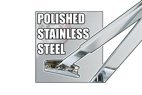 Rutland TS.9205 FBA.1 Polished Stainless Steel Flat Bar Arm Set Only
