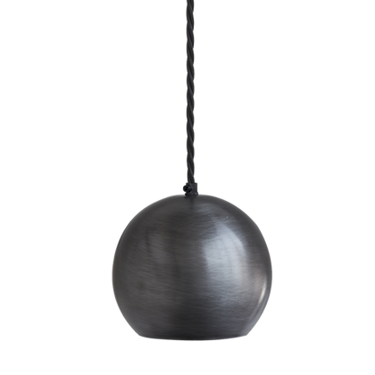 The Globe Collection Pewter Single Pendant
