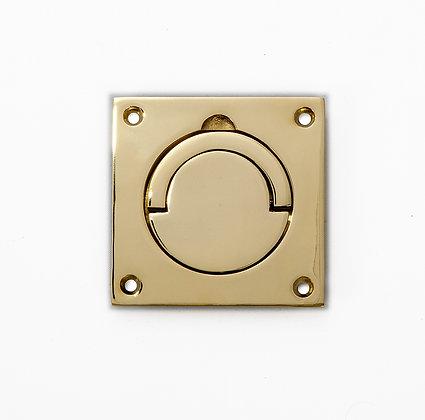 SCH.PB Polished Brass Squash Court Flush Pull Handle