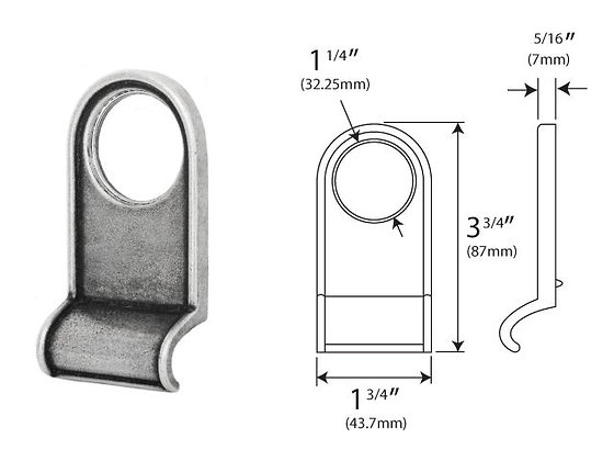 FDCP Genuine Pewter Round Cylinder Pull