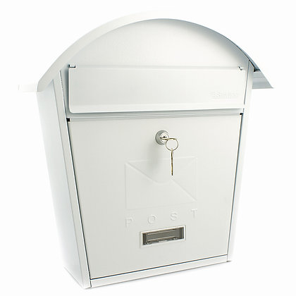 Burg Wachter Classic 2 Matt White Post Box