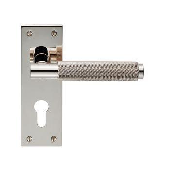 Varese EUL051Y Polished Nickel Euro Lock Door Handles