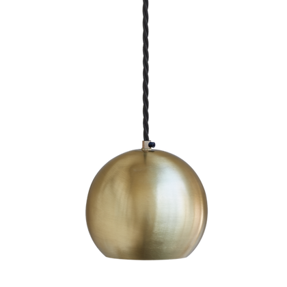 The Globe Collection Brass Single Pendant