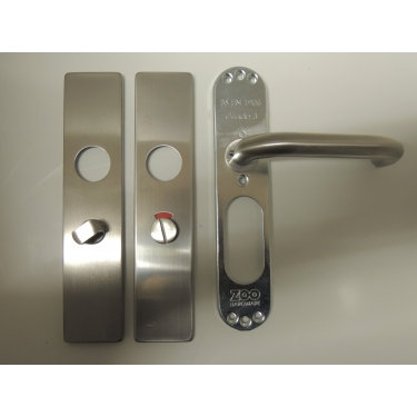 ZCSIP19/ZCS33 19mm LEVER ON BATHROOM  BACKPLATE SSS