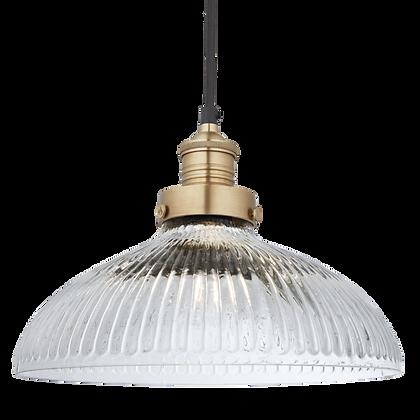 Dustville 12 Inch Glass Dome Brass pendant