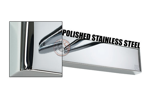 Rutland TS.4204 Polished Stainless Steel Radius Cover For Overhead Door Closer