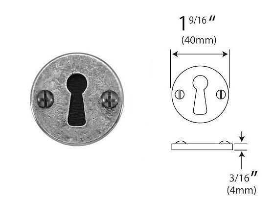 FD000 Pewter Keyhole Escutcheon
