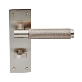 Varese EUL053 Satin Nickel Bathroom Door Handles