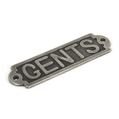 From The Anvil Pewter Gents Sign 83686