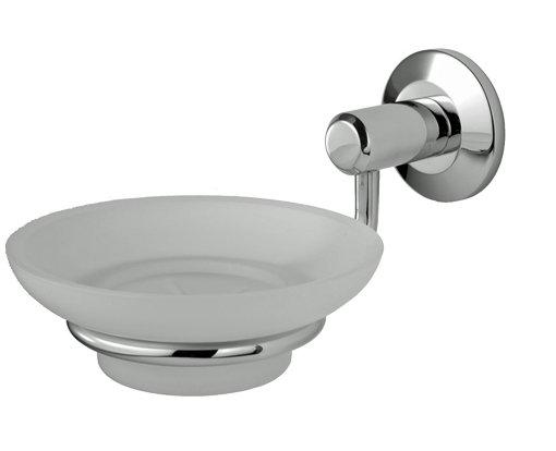 LW13CP TEMPO SOAP DISH HOLDER & GLASS DISH