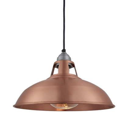15 Inch Copper Old Factory Slotted HEAT Pendant