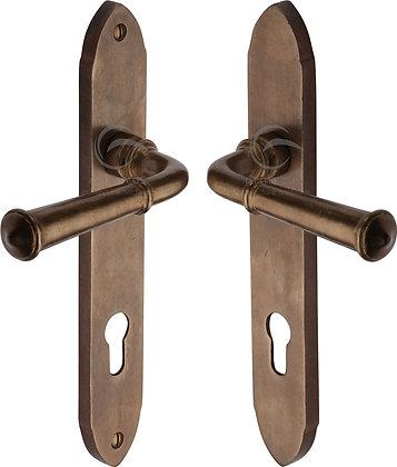 Heritage Brass RBL4748 Ludlow Sold Rustic Bronze Lever Euro Profile Door Handl