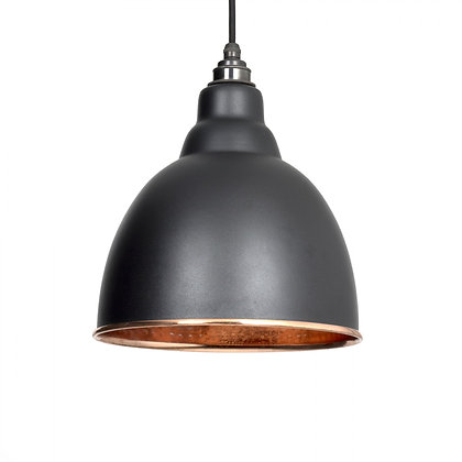 From The Anvil Brindley Pendant Black & Hammered Copper 49500b