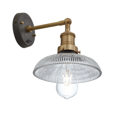 Brooklyn Wall Mount 8 Inch Glass Dome Light Brass