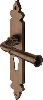 Heritage Brass RBL5848 Euro Profile Ludlow Sold Rustic Bronze Door Handles