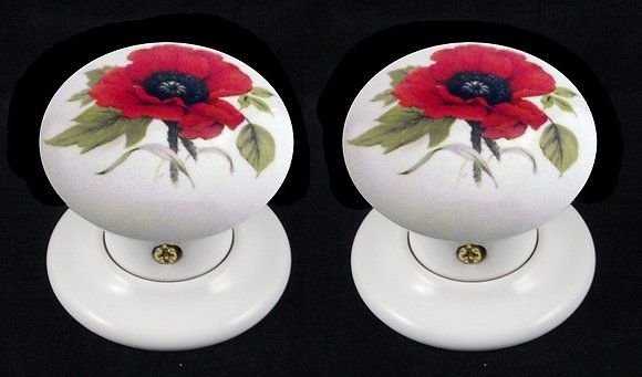 RED POPPY DESIGN PORCELAIN FURNITURE AND ACCESSORIES BY CHATSWORTH