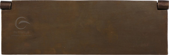 Heritage Brass RBL862 348mm Solid Rustic Bronze Interior Letterflap