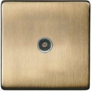 Heritage Brass Studio Screwless TV / Coaxial Non-Isolated Socket