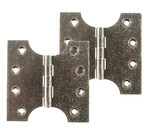 4 x 2 x 4 Inch Distressed Silver Atlantic UK Parliament Hinges - APH424