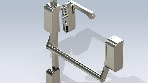 Grade 316 Stainless Steel D-Fine Antipanic Modular Panic Push Bar Range