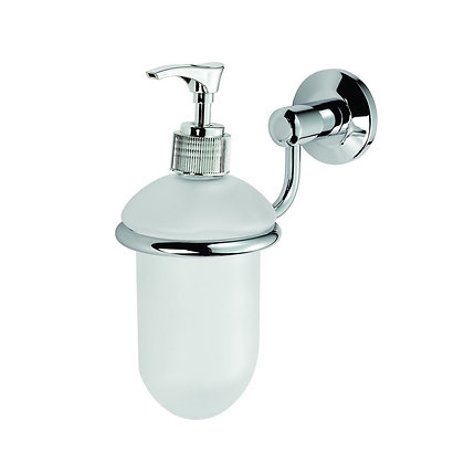 LW27CP TEMPO GLASS LIQUID SOAP DISPENSER AND HOLDER