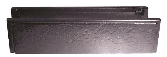 Black Antique Telescopic Letterplate 270x71mm jab113
