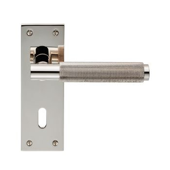 Varese EUL051 Polished Nickel Lever Lock Door Handles
