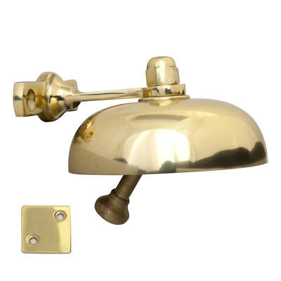 Victorian Domed Shop Door Bell in Polished Brass