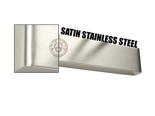 Rutland TS.9205 Satin Stainless Steel Radius Cover For Overhead Door Closer