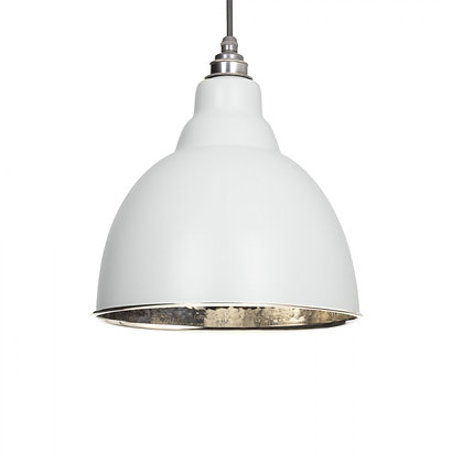 From The Anvil Brindley Pendant Light Grey & Hammered Nickel 49511lg