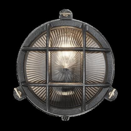 Industville 8 Inch Black Bulkhead Round Light