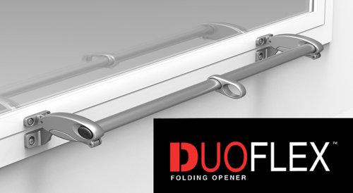 DUOFLEX FOLDING OPENERS -SILVER FLUSH FITTING FOR TIMBER/ALUMINIUM/STEEL WINDOWS