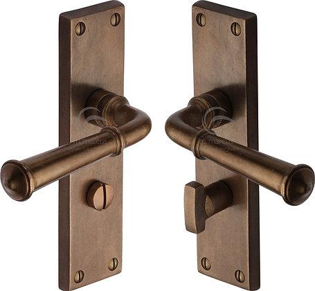 Heritage Brass RBL3730 Ashfield Solid Rustic Bronze Bathroom Door Handles
