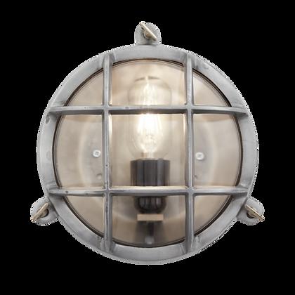 Industville 8 Inch Gunmetal Bulkhead Round Light