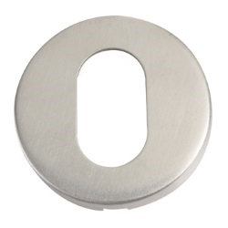 ZCS2003 OVAL PROFILE ESCUTCHEON SATIN STAINLESS STEEL