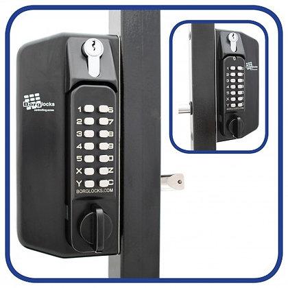 Borg BL3130KO Digital Lock For Metal Gates (Key Override)