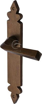 Heritage Brass RBL3610 Solid Rustic Bronze Latch Door Handles