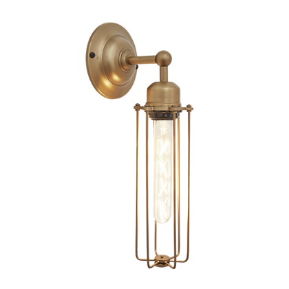 Orlando Cylinder - 3 Inch Brass Wall Light