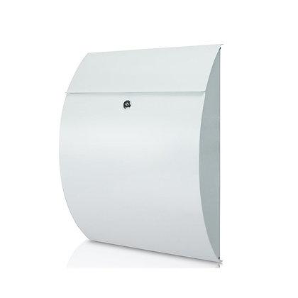 Riviera White - Steel Post Box