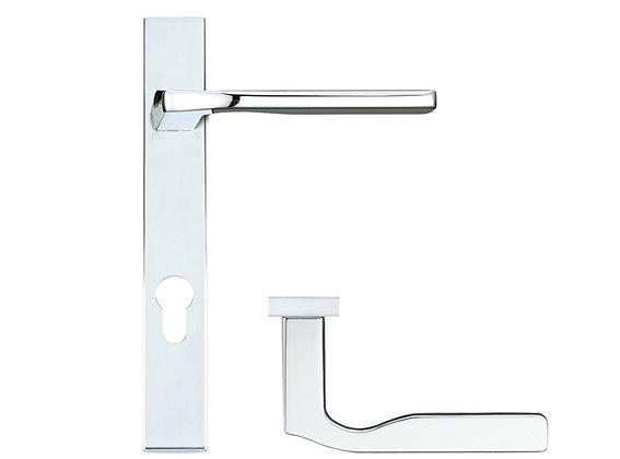 Rosso Maniglie 'Vela' Narrow Plate Door Handles - RM12NP92