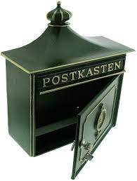 BURG WACHTER Bordeaux Cast Aluminium Post Box - Green