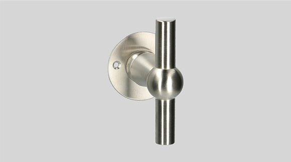 Orno Art. 124 R0-T Satin Nickel Lever Door Handles