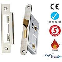 Eurospec Easi T BAE5030NP/R Radius Bathroom lock 76mm