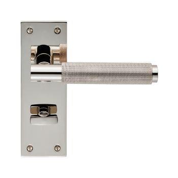 Varese EUL053 Polished Nickel Bathroom Door Handles
